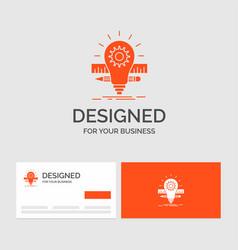 business logo template for development idea bulb vector image