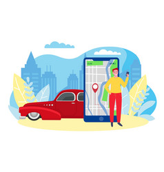 Car sharing mobile app vector
