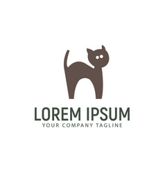 Cat care logo design concept template vector