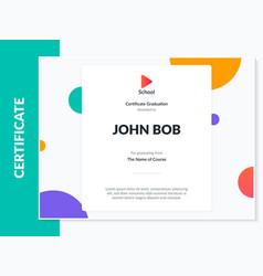 certificate appreciation template design vector image