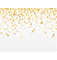 christmas golden confetti falling shiny glitter vector image
