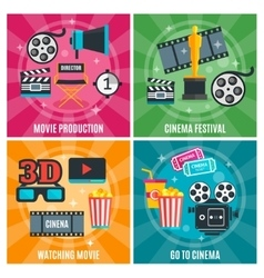 Cinema Industry Concept vector