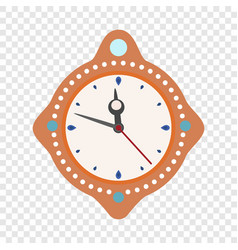 clock time new year icon flat style vector image