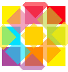 Colorful abstract square pattern background flat vector