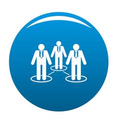 company icon blue vector image
