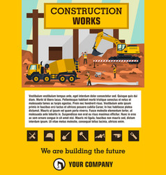construction site employees performing the vector image