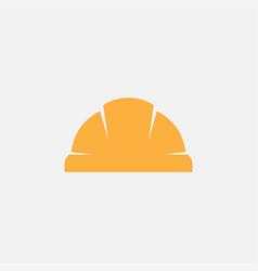 construction worker hard helmet icon vector image