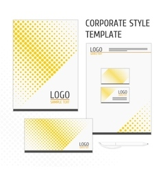corporate identity template point vector image