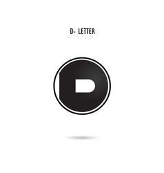 D-letter abstract logo vector image