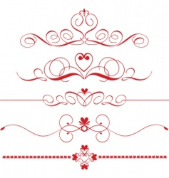 Decorative heart dividers vector