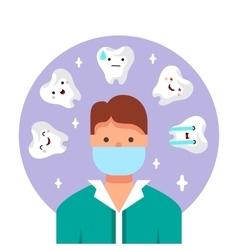 Dentist doctor vector