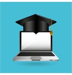 Eduation online concept technology school vector