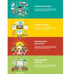Education online education professional education vector