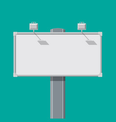 empty big board or billboard with lamp vector image