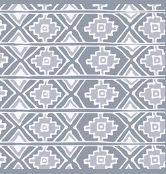 ethnic abstract geometric pattern in black vector image