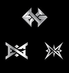 exg letterbased symbol set vector image
