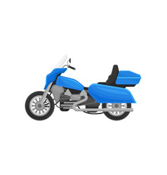 flat icon of cool blue motorcycle two vector image