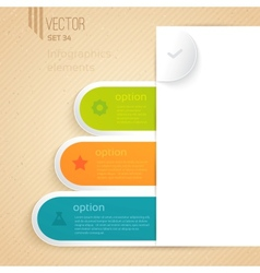 Four business tabs with different options and vector image