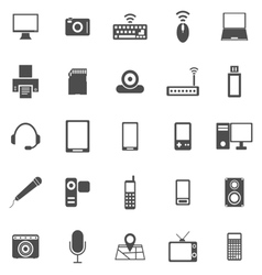 Gadget icons on white background vector