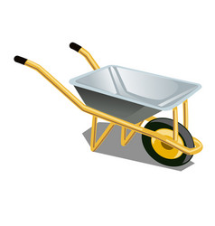 garden wheelbarrow isolated on white background vector image