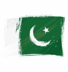 Grunge Pakistan flag vector
