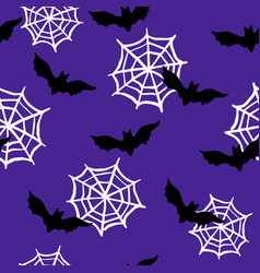 Halloween repeat pattern with bats vector
