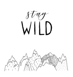 hand drawn wild forest vector image