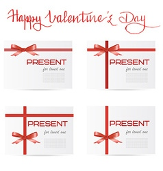 Hand written quote Happy Valentines day and set of vector