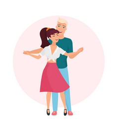 happy romantic man and woman time together vector image