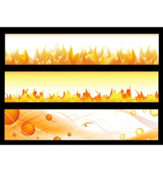 hot banners vector image