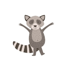 Humanized Raccoon Greeting vector image