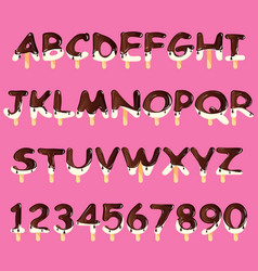 ice cream alphabet isolated vector image