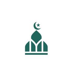islamic school icon design vector image