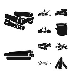 Isolated object rough and forestry icon vector