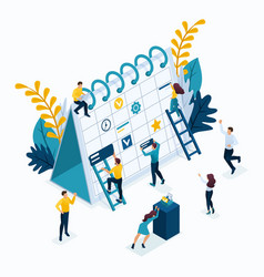 Isometric concept for business solutions vector