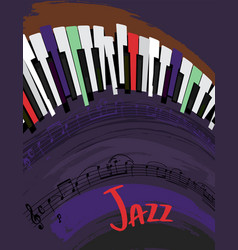 jazz poster background vector image