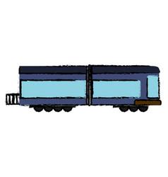 locomotive train transport cargo vector image