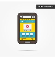 Mobile website vector image