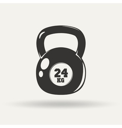 Monochrome fitness icon vector