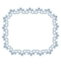 Openwork blue frame vignette for design vector
