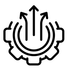 Opportunity process icon outline style vector