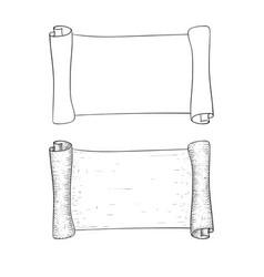 Parchment paper outline vector