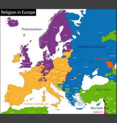Predominant religious in vector