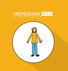 Profession desing vector image
