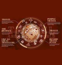 Promo poster on theme travel around the vector