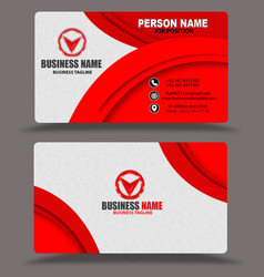 Red business card template design psd eps vector