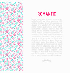 Romantic concept with thin line icons vector