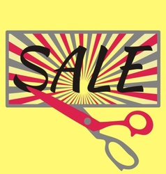 Sale with scissors vector