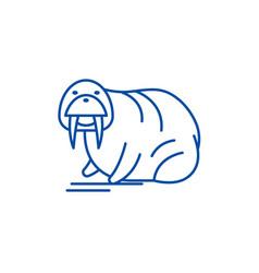 seal line icon concept seal flat symbol vector image