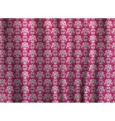 Seamless art pattern curtains wallpaper vector image